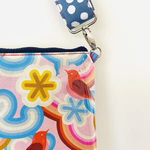 Purse Plus+ Strap and Leather Tassel - Retro Birds