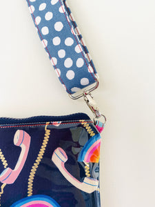 Purse Plus+ Strap and Leather Charm - Rainbow Telephone