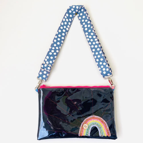 Purse Plus+ Strap and Leather Charm - Rainbow Glitter