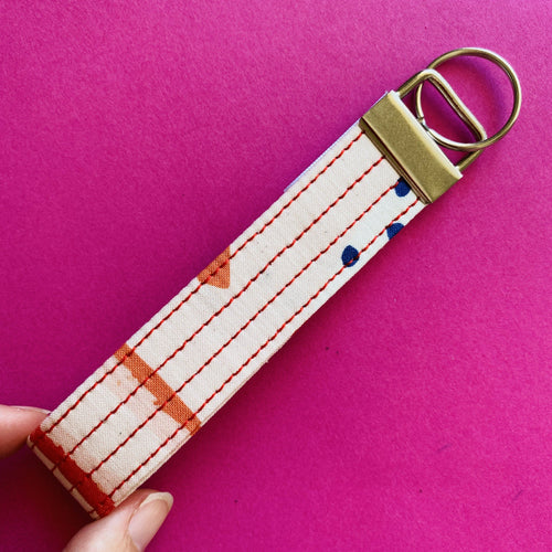 Wristlet Key Fob - Retro Loops