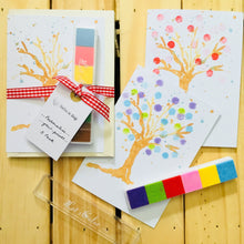 Load image into Gallery viewer, Inky Pinky DIY Finger Print Blossom Tree Card Pack