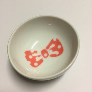Red and White Polka Bow - Dish
