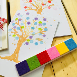 Inky Pinky DIY Finger Print Blossom Tree Card Pack