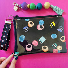 Load image into Gallery viewer, Liquorice Allsorts - Midi Clutch plus Charm and wristlet 1