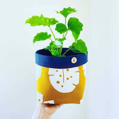 Planter - Mustard Monstera