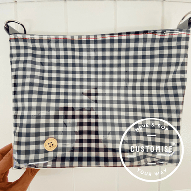 Customisable Pouch Plus+ - Navy Mini Gingham
