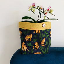 Load image into Gallery viewer, Planter - Navy Leopard Jungle