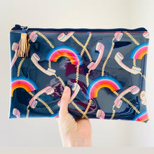 Load image into Gallery viewer, Wristlet Key Fob - Rainbow Telephone