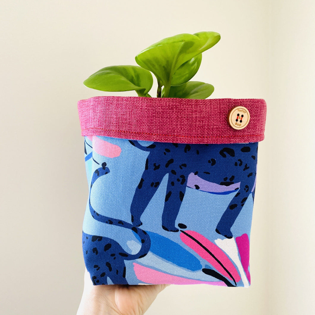 Planter - Blue Big Cat