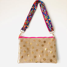 Load image into Gallery viewer, Gold Spot Purse Plus+ with adjustable strap