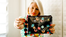 Load image into Gallery viewer, Liquorice Allsorts - Midi Clutch plus Charm and wristlet 3