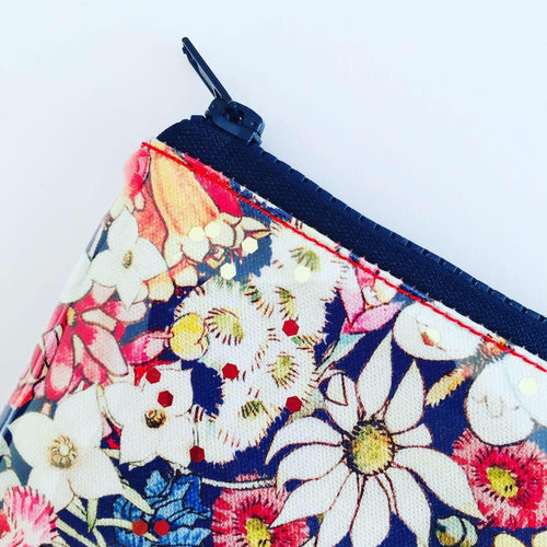 Clutch - Mays Gibbs Floral Navy