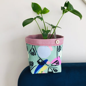 Planter - Minty Abstract