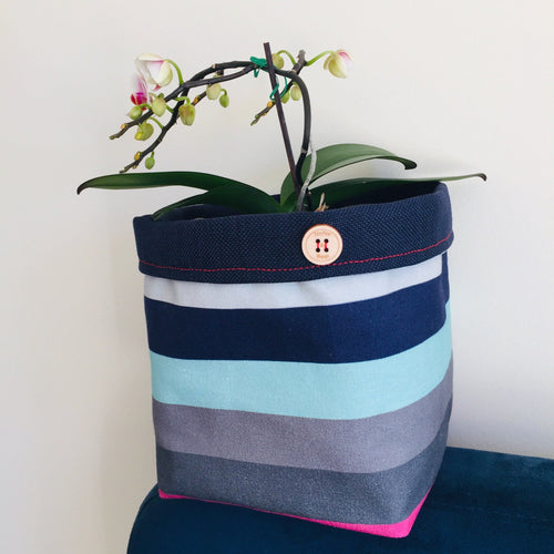 Planter - Minty Candy Stripes