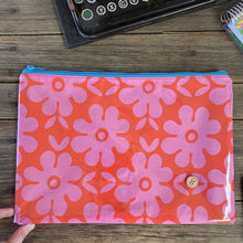 Load image into Gallery viewer, Red and Pink Floral - Planner Pouch