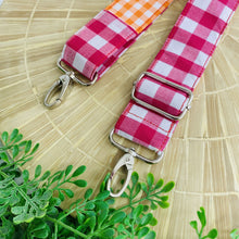 Load image into Gallery viewer, Adjustable Shoulder Strap - Scrap Happy Gingham Mix 7