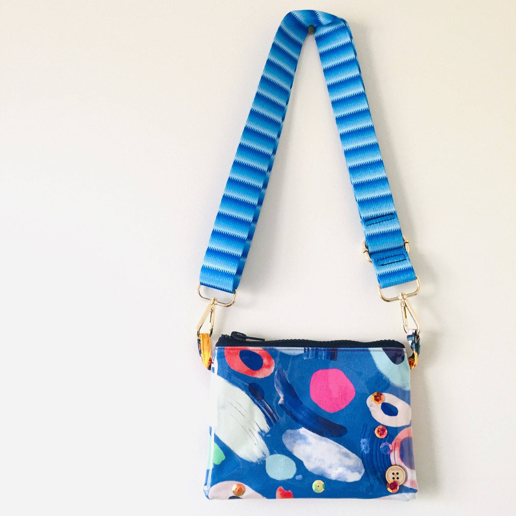 Painterly Swish Purse Plus+ with adjustable strap