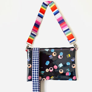 Liquorice Allsorts - Large Purse Plus+ with adjustable strap