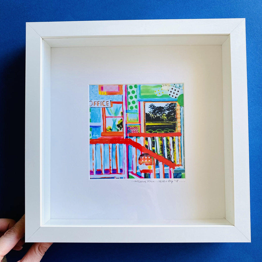 Post Office Collage - Framed print