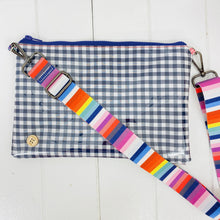Load image into Gallery viewer, Customisable Purse Plus+ - Navy Mini Gingham