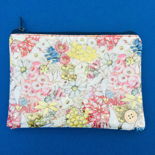 Clutches - Mays Gibbs Floral Dusky Pink