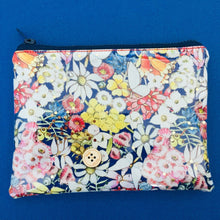 Load image into Gallery viewer, Clutch - Mays Gibbs Floral Navy