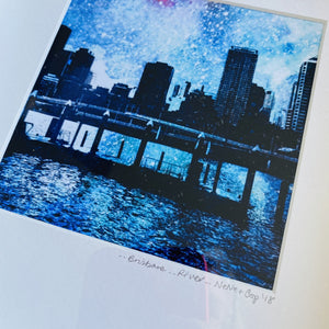 Brisbane River - Framed print