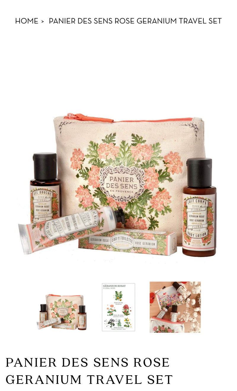 Panier Des Sens - French Beauty Travel Pack