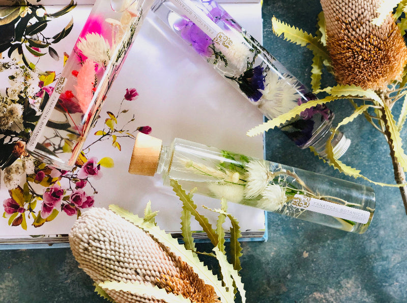 Fanatical Botanical Preserved Flower Decorative Bottles