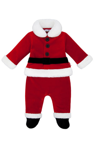 Le Top Santa's Helper Coverall for Babies sz 9 mos only