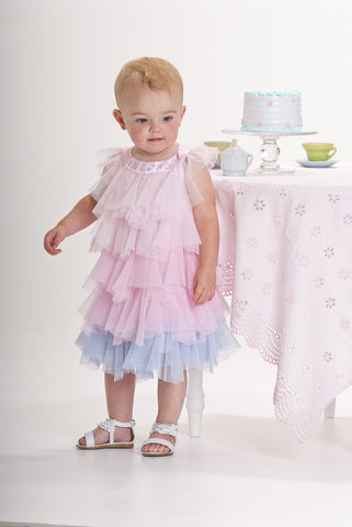 Biscotti Rococco Rose Fluffy Tulle Dress sz 3T only