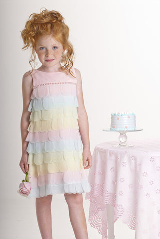 Biscotti Petal Parfait Dress Covered with Petals sz 24m & 5 only