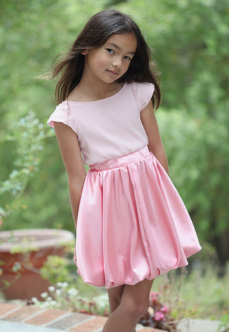 A.Bird Avi Blush Bubble Dress in Perfect Pink