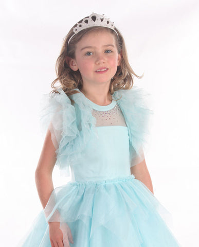 Ooh La La Couture Ruffle Shrug in Blue Ice