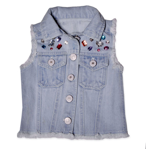 Maeli Rose Jeweled Denim Vest