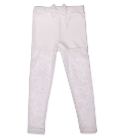 Maeli Rose White Leggings with Stars 2T & 4 only