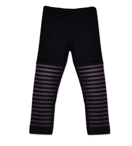 Maeli Rose Black Stripe Legging sz 8