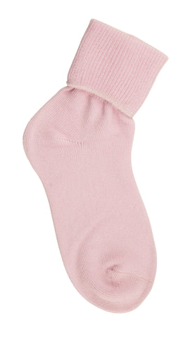 Country Kids Organic Turncuff Handlinked Socks in Light Pink Set of 3