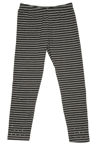Kate Mack Material Girl Striped Leggings sz 4 only