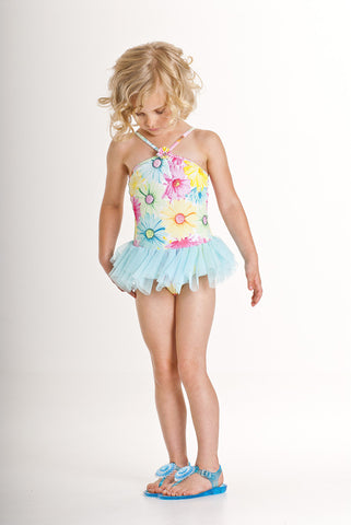 Kate Mack Dipped in Daisies Tutu Halter Swimsuit