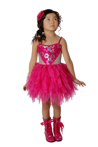 Ooh La La Couture Wow Sweetheart Dress in Hot Pink sz 2T only