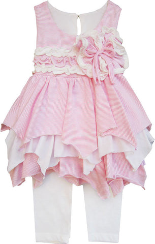 Isobella and Chloe Cotton Candy Dress & Capri Set sz 18 mos & 4 only