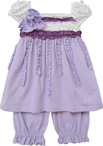 Isobella and Chloe Ruffly Dress and Bloomers Set for Babies sz 24m only