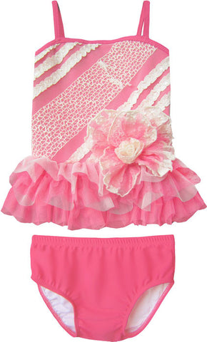 Isobella and Chloe Popsicle Kisses Tankini for Babies sz 6 mos & 9 mos
