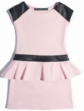 Dolls & Divas Alexia Pink and Pleather Dress sz 7 only