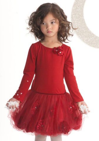 Biscotti Posies Red Dropwaist Tutu Dress sz 12 mos & 18 mos only