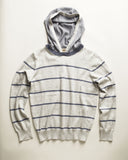 Frank & Lu Cotton Cashmere Hoodie in Grey Heather and Waterfront sz 4/5 only