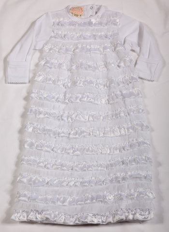 Biscotti Wrapped in Ruffles White Infant Gown