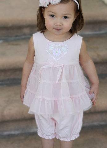 Biscotti Hearts Delight Sleeveless Tutu with Bloomers