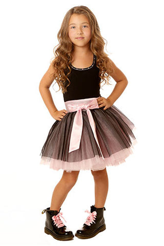 Ooh La La Couture Tie Bow Dress in Black sz 2T only